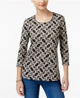 Karen Scott Printed Top, Only at Macy's