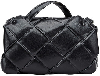 Bottega Veneta Top Handle Bag in Black & Silver | FWRD