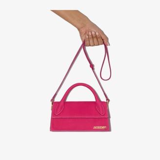 Jacquemus Pink Le Chiquito Long suede shoulder bag