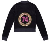 Juicy Couture Girls Logo Velour Glam Ring Westwood Jacket