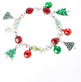 Carole Green & Silvertone Tree Stretch Bracelet
