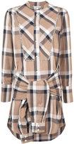 Derek Lam 10 Crosby collarless tie-waist shirtdress