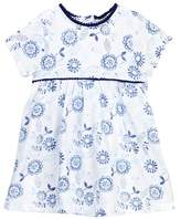 Offspring Indigo Flowers Popover Bodysuit Dress (Baby Girls)
