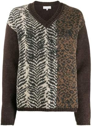 Pierre Louis Mascia Pierre-Louis Mascia animal print knitted jumper