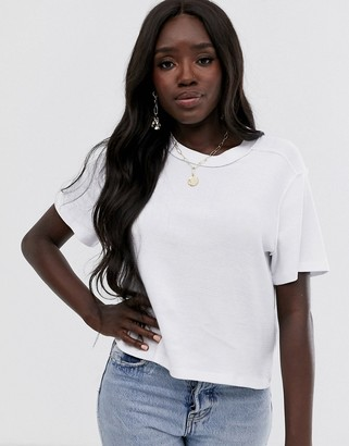 Asos Design DESIGN boxy t-shirt in waffle with exposed seams