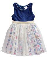 Sweet Heart Rose Sweetheart Rose Little Girl's Space Ship Printed Skirt