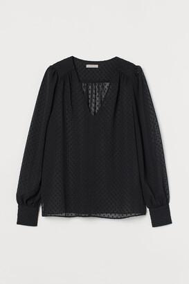 H&M Plumeti chiffon blouse