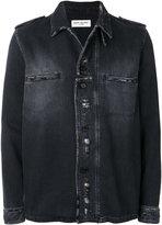 Saint Laurent distressed military shirt jacket