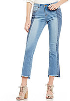 William Rast Flare Stretch Denim Frayed Hem Cropped Jeans