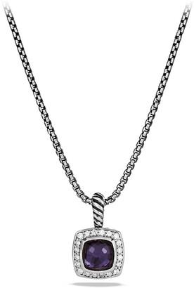 David Yurman Albion Petite Pendant with Semiprecious Stone & Diamonds on Chain