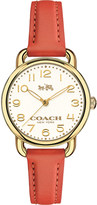 Coach 14502253 dalaney gold-plated stainless steel and leather watch