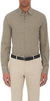 Brioni Men's Plaid Cotton Shirt-Black, Yellow, White, Navy