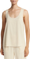 Vince Raw-Edge Crepe Tank