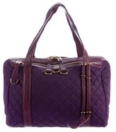 MZ Wallace Quilted Leather-Trimmed Satchel