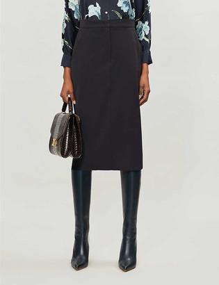 Max Mara Frais A-line wool midi skirt