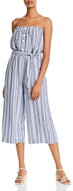 Bella Dahl Striped Strapless Jumpsuit