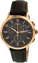 Fossil Women's CH3099 Abilene Sport Chronograph Gray Leather Watch