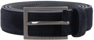 HUGO BOSS Suede Belt With Metal Logoed Buckle