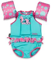 Coleman Stearns® Girl's Puddle Jumper® Suit in Turquoise Blue/Pink