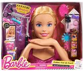 Mattel Barbie Deluxe Blonde Hair Styling Head by