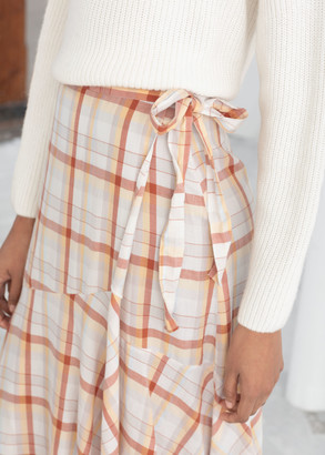And other stories Cotton Blend Handkerchief Midi Skirt