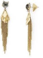 Alexis Bittar Pleated Chain Tassel Drop Earrings