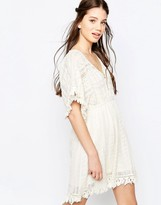 Hazel Lace Panel A-Line Dress