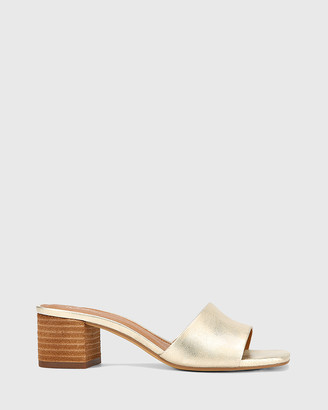 Wittner - Women's Silver Sandals - Ginnie Leather Block Heel Sandals - Size One Size, 36 at The Iconic