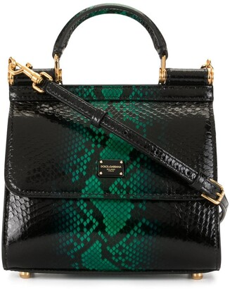 Dolce & Gabbana Sicily snake-effect leather tote