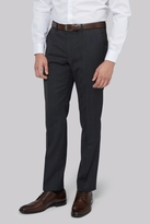 DKNY Slim Fit Charcoal Pindot Trousers