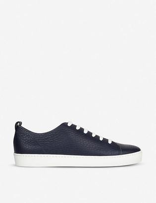 LK Bennett Tulum low-top grainy leather trainers