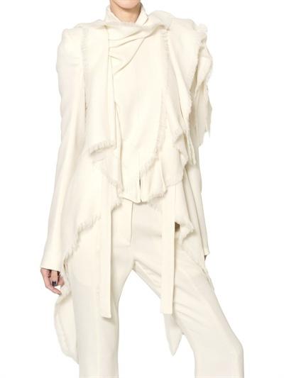 Gareth Pugh Draped Heavy Silk Gazar Jacket