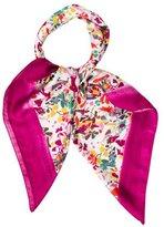Carolina Herrera Floral Print Silk Scarf