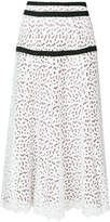 Just Cavalli broiderie anglaise maxi skirt
