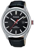 Pulsar Black Analogue Strap Watch Ps9375x1