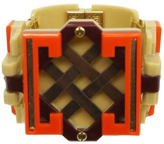 Gissa Bicalho Handmade Acrylic Bracelet Marajo Orange