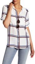 Equipment Short Sleeve Print Silk Shirt