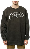 Crooks & Castles Mens The Scripted Sweatshirt Blackspeckle 3Xl