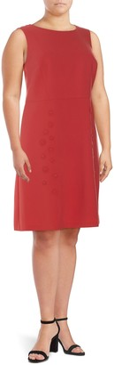 Lafayette 148 New York Plus Cheyenne Sleeveless Shift Dress