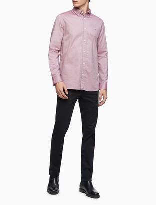 Calvin Klein Solid Cotton Stretch Button-Down Dress Shirt