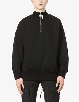 Pieces Uniques La Cle funnel-neck cotton-blend sweatshirt