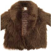 H&M Studio Studio Green Faux fur Coat for Women