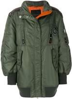 Ermanno Scervino oversized embroidered trim bomber jacket