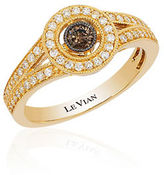 LeVian 14K Gold Chocolate-and-Vanilla Diamond Ring