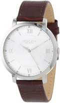 Johan Eric Men's JE1700-04-001 Koge Round Stainless Steel Brown Genuine Leather Watch