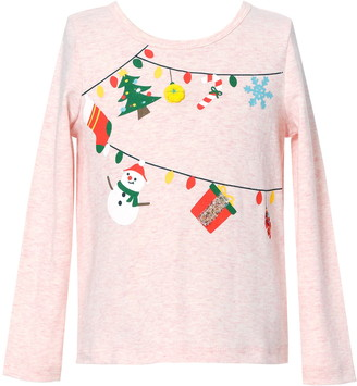 Truly Me Kids' Garland Graphic Long Sleeve Top