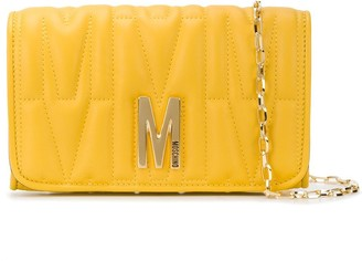 Moschino Logo Plaque Wallet In Chain