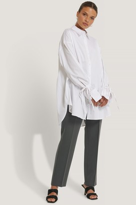 NA-KD Recycled Tied Sleeve Shirt