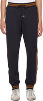 Dolce & Gabbana Navy Embellished Lounge Pants