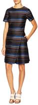 Suno Woven Stripes Sleeveless Dress